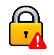 lock+warning