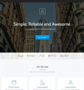 Parallax One WordPress Theme